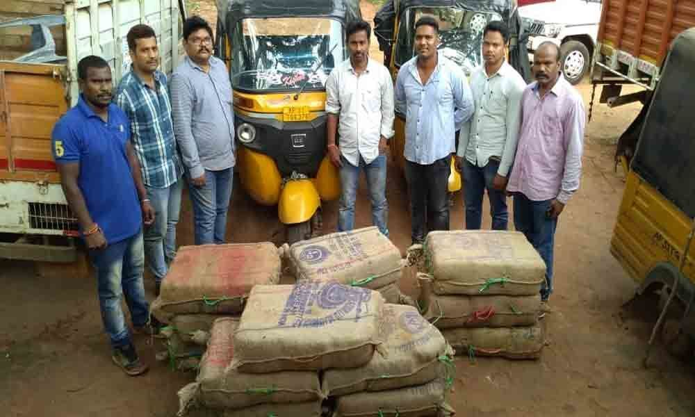 280-kg ganja seized in Visakhapatnam
