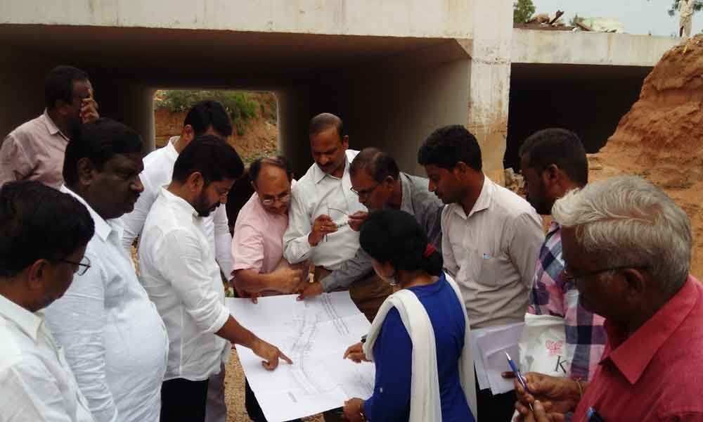 Revanth inspects RUB construction works