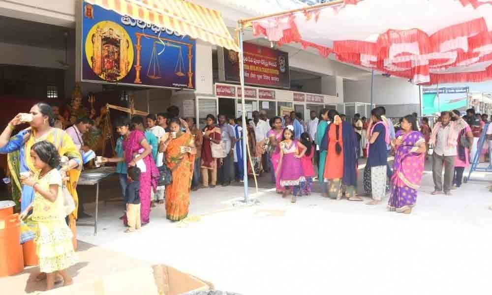 Free buttermilk distributed to devotees