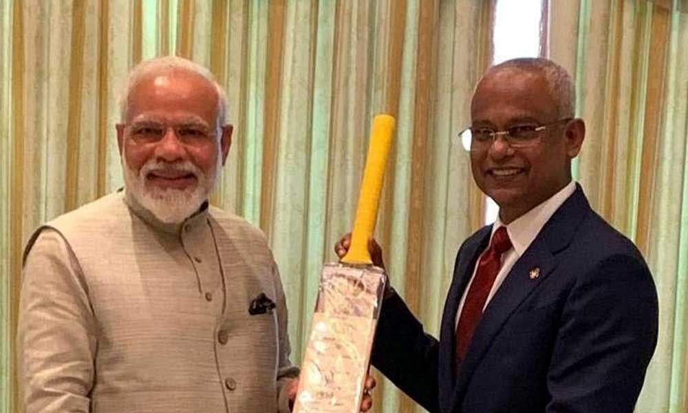 Modi in Maldives: Focus on cricket diplomacy as PM gifts bat to President Mohamed Solih