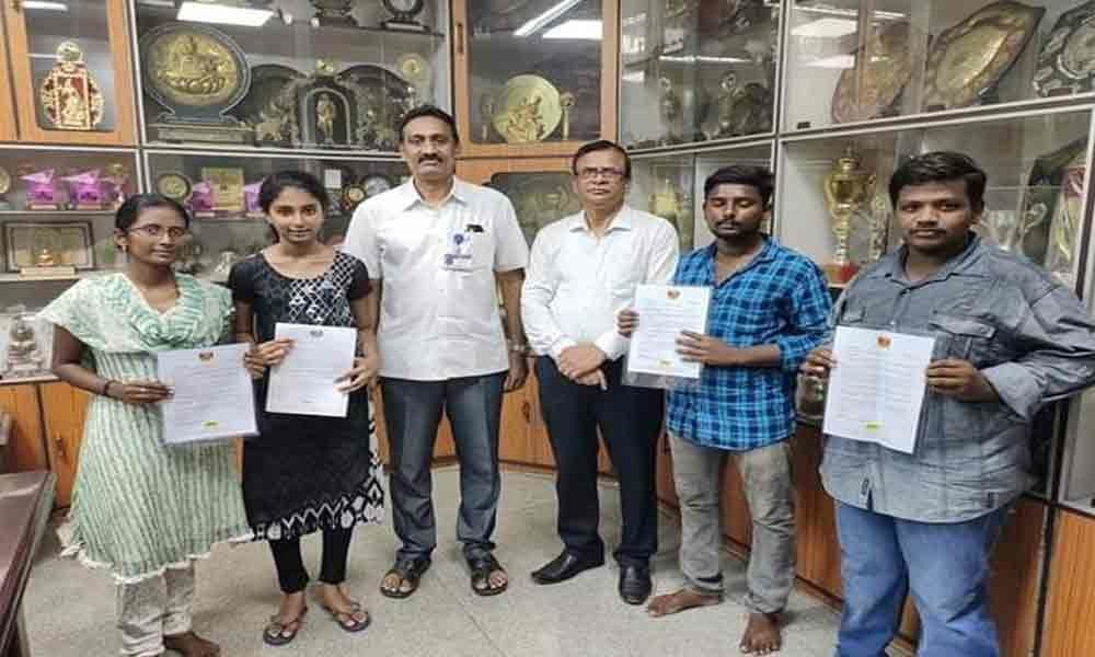 4 Siddhartha students selected in campus placement