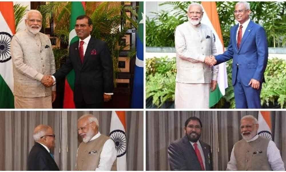 PM Modis diplomatic push; meets Maldivian political leaders