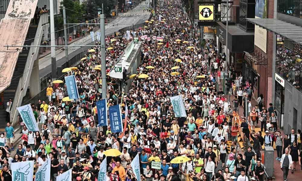 Huge Hong Kong protest against China extradition law