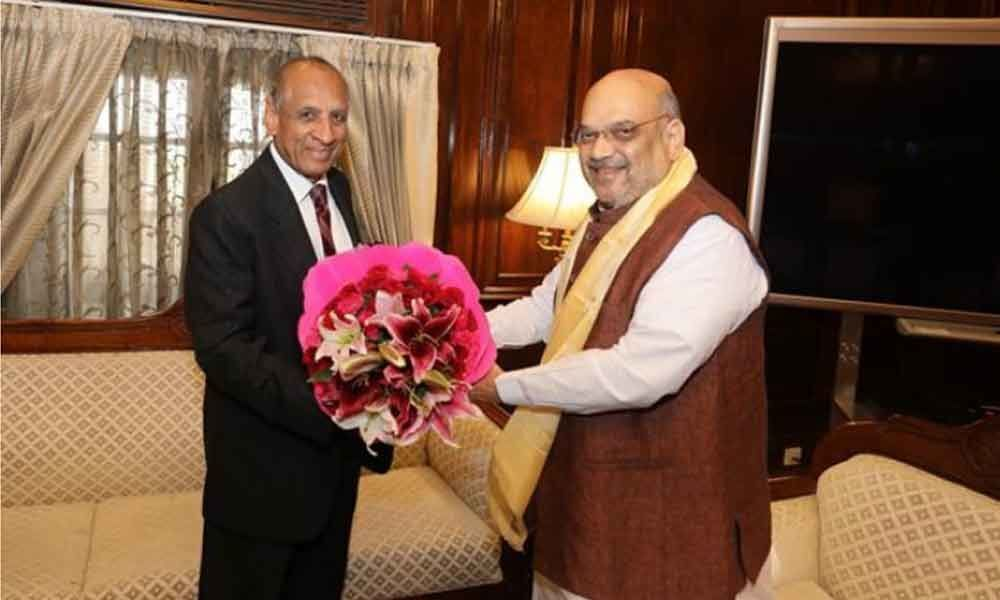 Governor ESL Narasimhan meets Home Minister Amit Shah
