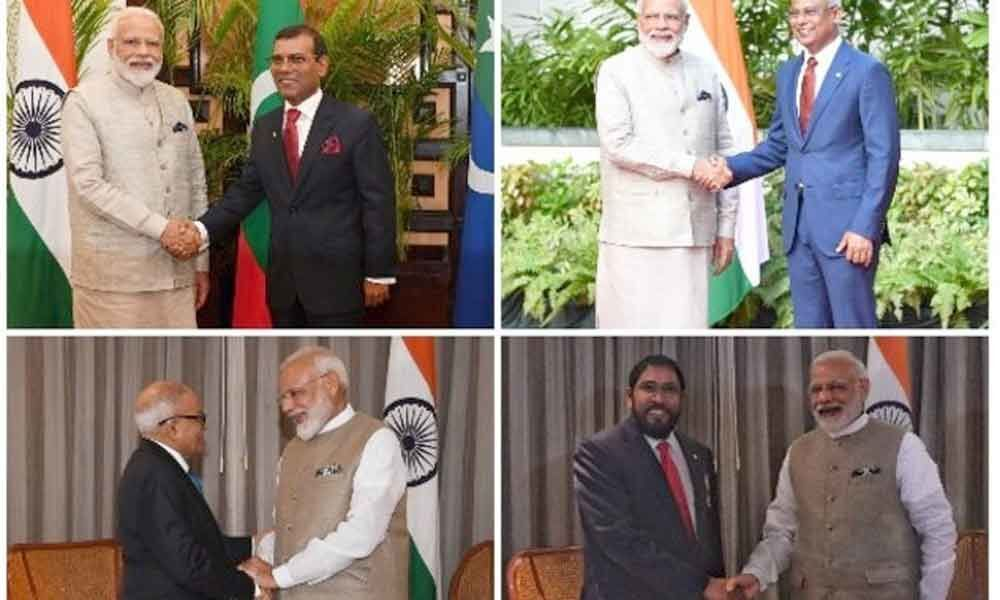 Modis recent foreign visits, a message to China