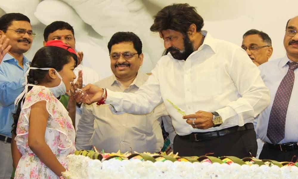 Balayya celebrates birthday with children at Basavatarakam Indo American Cancer Hospital