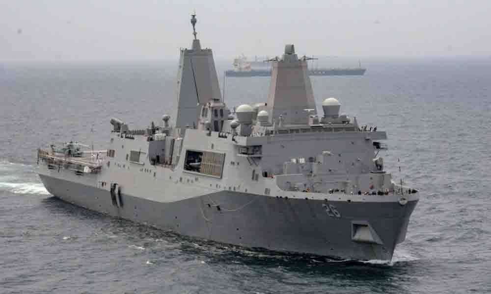 USS John P Murtha on a four-day visit in Visakhapatnam