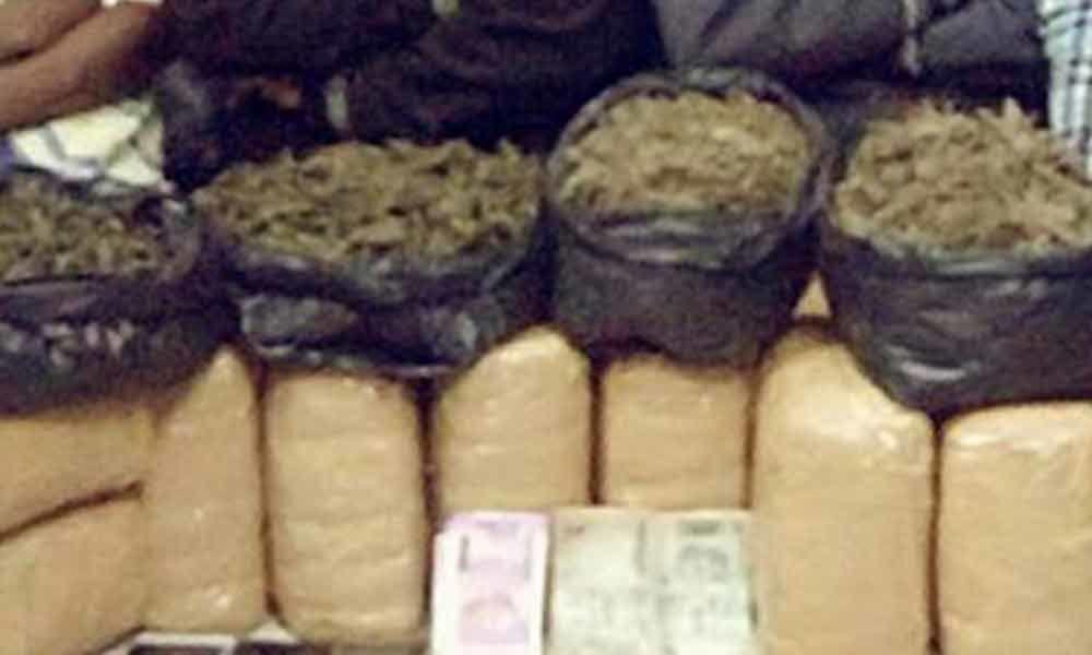 21 Kg ganja seized in Mangalhat PS limits