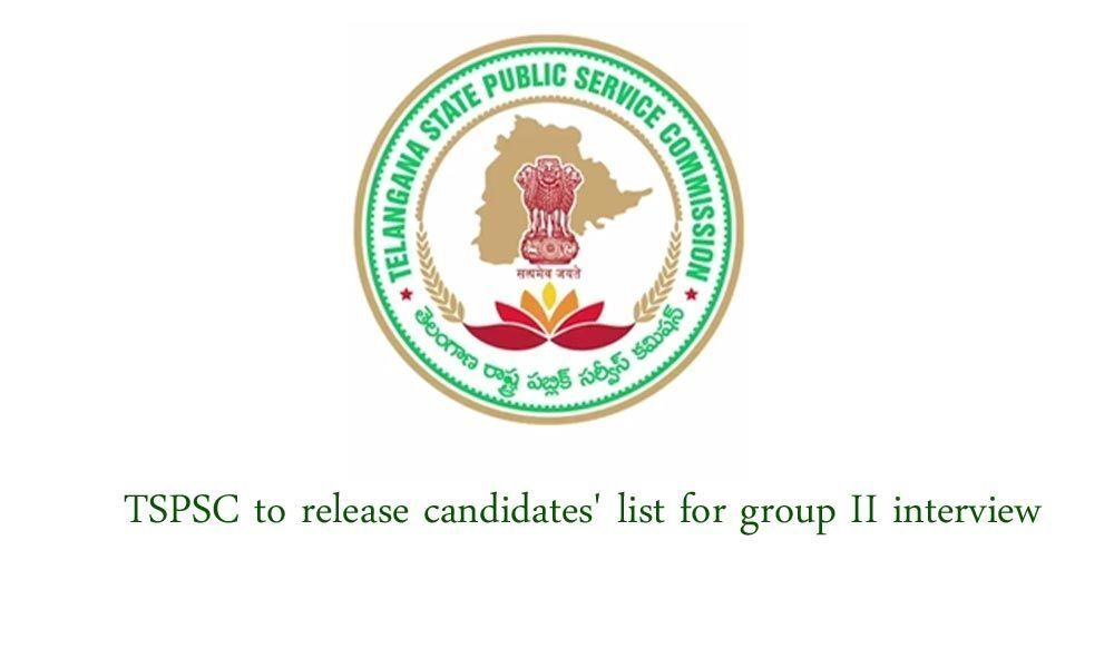TSPSC to release candidates list for group II interview in two days