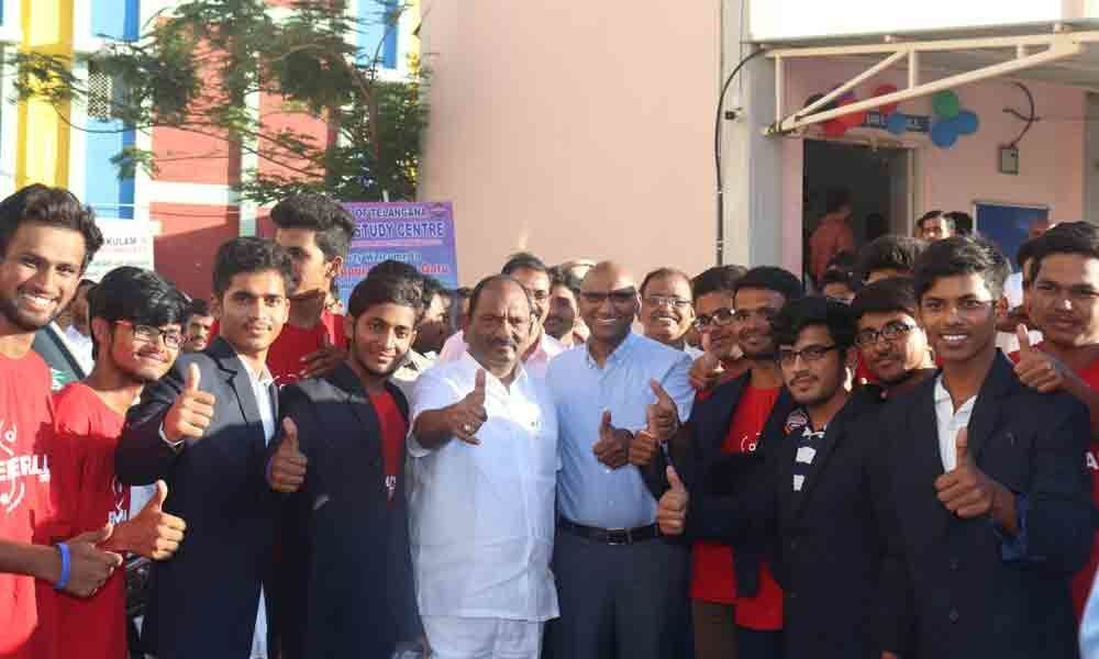 Minister felicitates NEET toppers from Social and Tribal Welfare Institutions