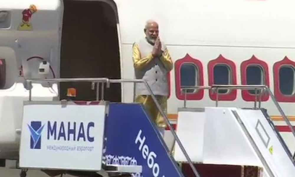 PM Modi arrives in Bishkek to strengthen India