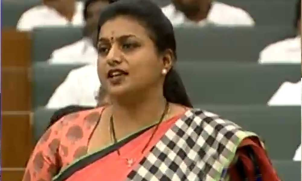 MLA Roja demands apology from Chandrababu Naidu