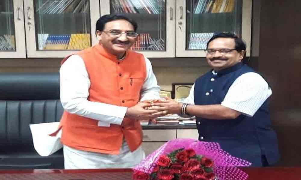 RSVP  Vice-Chancellor meets Union HRD Minister