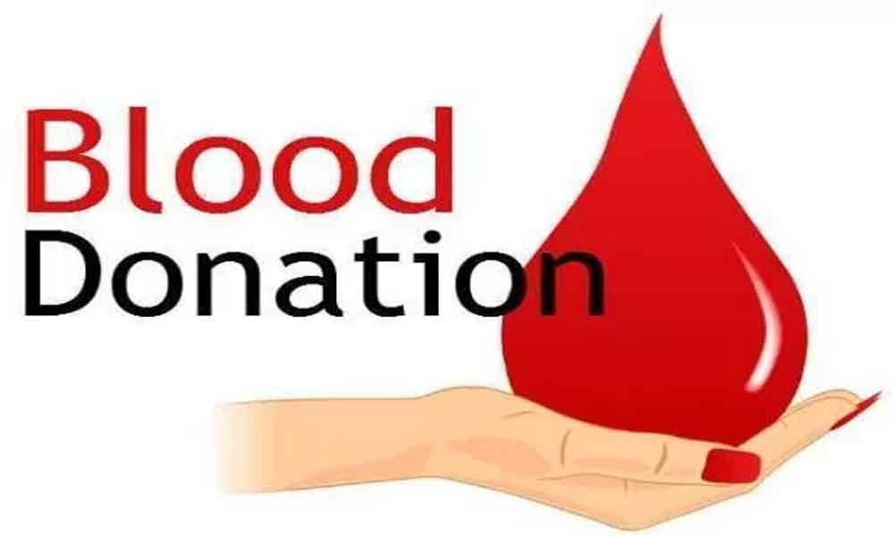 Blood donation camp at Raj Bhavan today