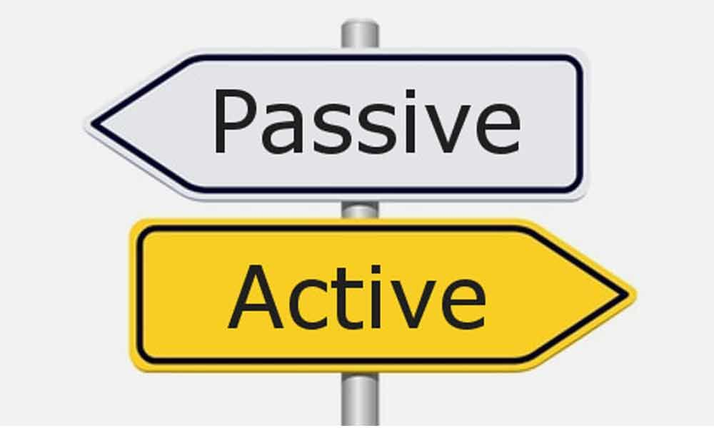 From being active to passive