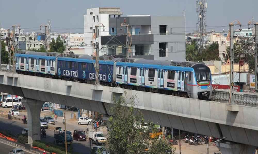 One more Metro train runs to Hi-Tec City