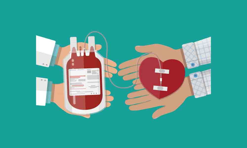 Karimnagar : Blood donation is equal to life donation