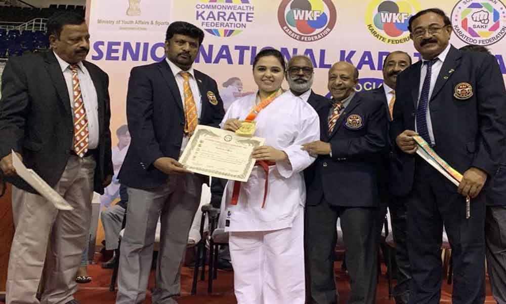 Hyderabad City girl reigns in national Karate championship
