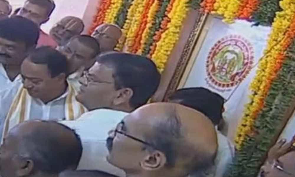 Yadadri Bhavan inaugurated in Hyderabad