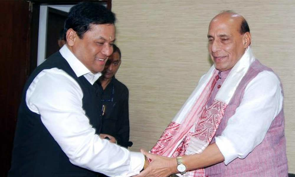 Assam CM meets Shah and Rajnath, discusses state
