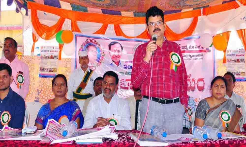 Collector distributes books, uniforms in Sangareddy