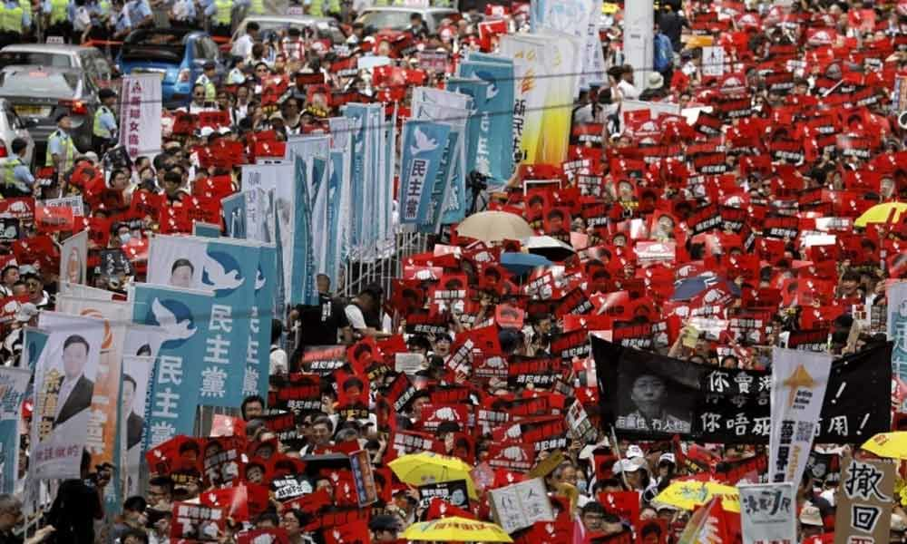 Hong Kong on edge, more protests over extradition bill loom