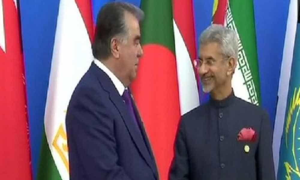 CICA Summit: EAM Jaishankar meets Tajikistan President