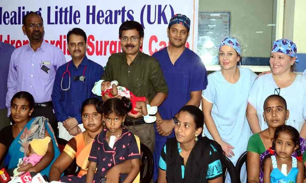 Andhra Hospitals conducts 14 free heart surgeries in a week