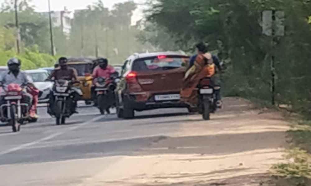 Traffic chaos at NCL Road