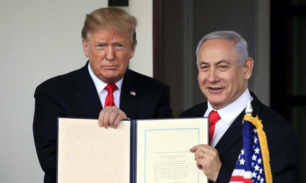 Israeli PM Benjamin Netanyahu names Golan Heights establishment after US President Donald Trump