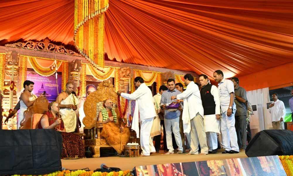 Coronation programme underway in Tadepalli