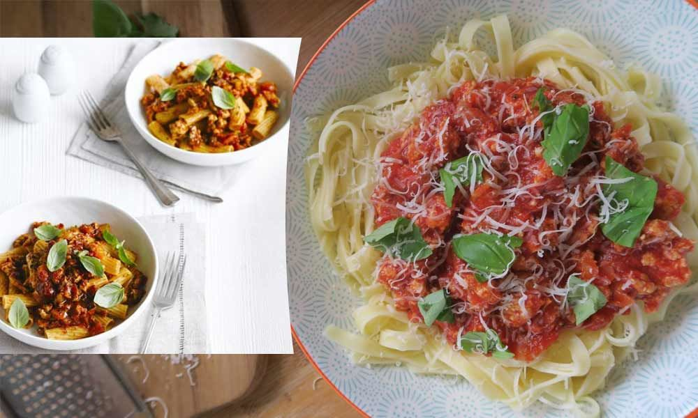 How to make Low Fat Turkey Bolognese