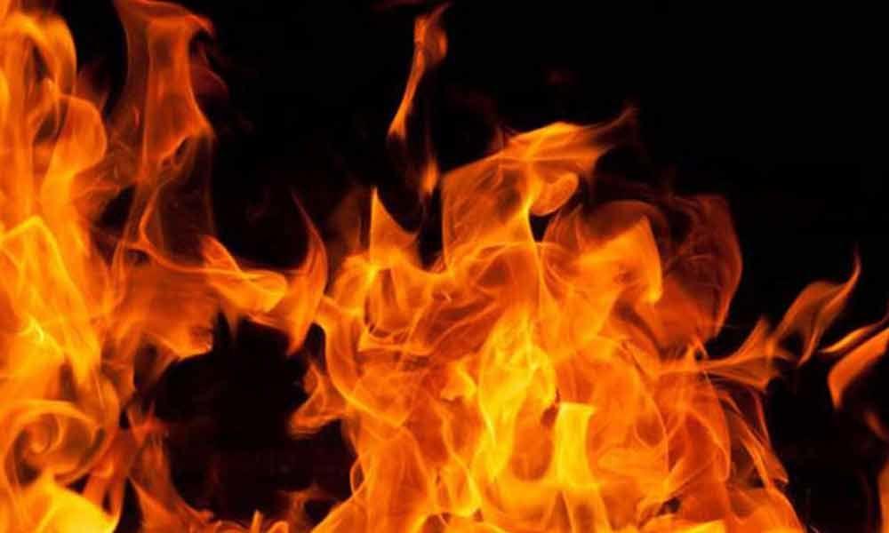 Massive fire breaks out in Sri Chakra Cold Storage godown at Kurnool