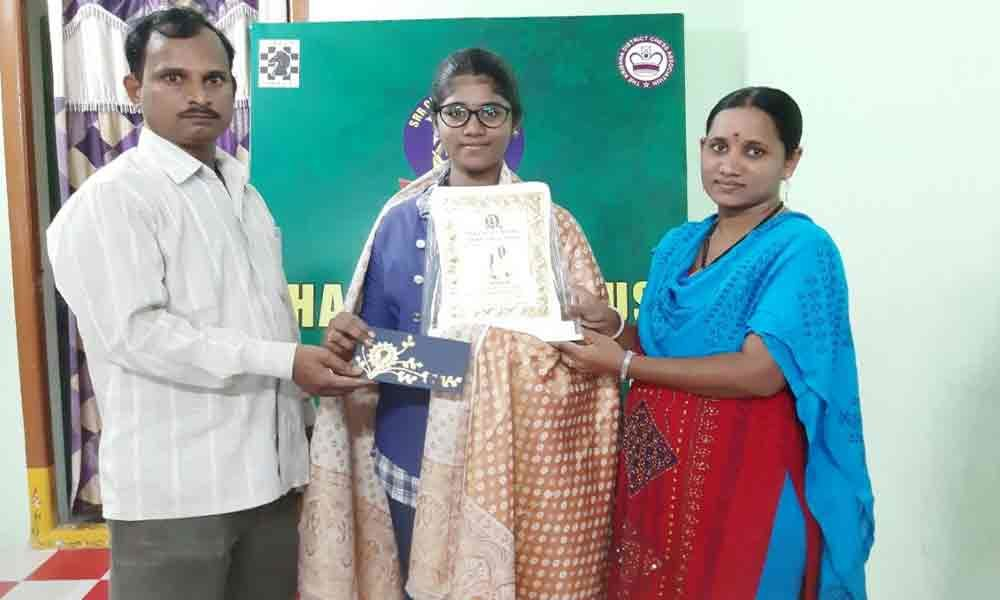 Chess player gets Rs 10,000 cash award