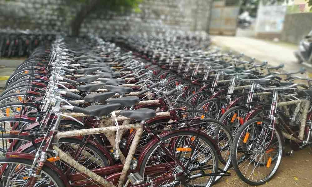 32K cycles procured for students gathering dust