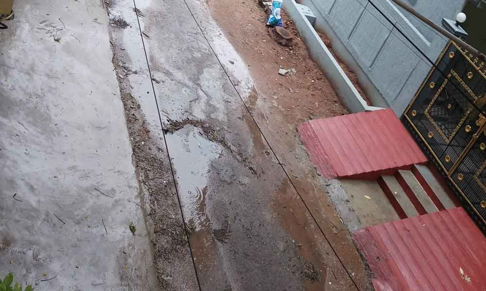 Drainage overflow on roads resented