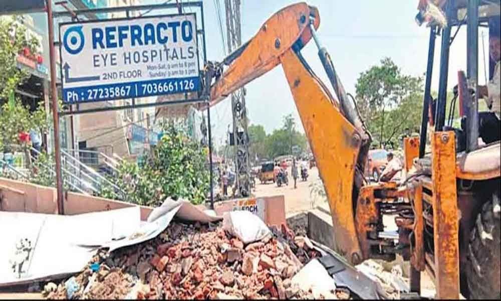 GHMC and revenue officials intensified demolition of encroachments in Greater Hyderabad