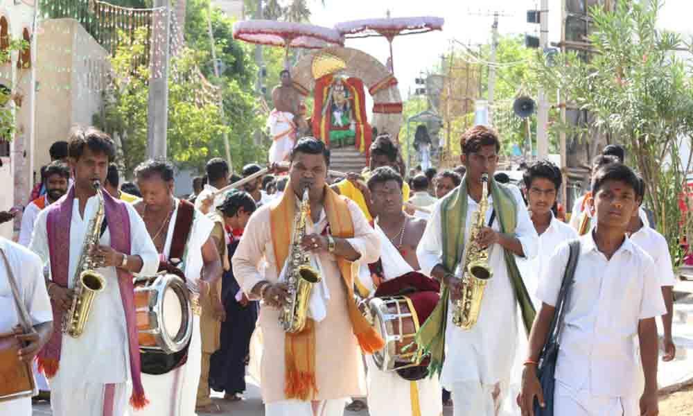 Lord Venkateswara rides on Suryaprabha Vahanam