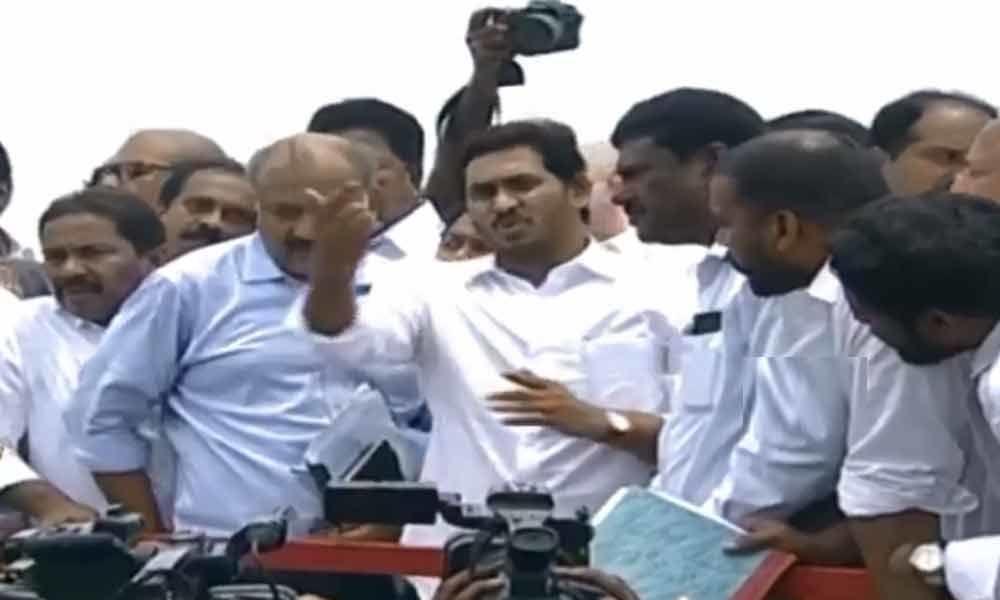 CM YS Jagan reaches Polavaram project