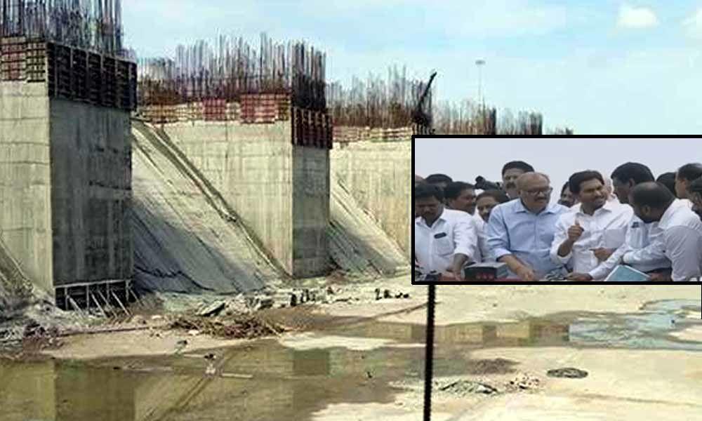 CM YS Jagan dissatisfied over Polavaram Copper Dam works