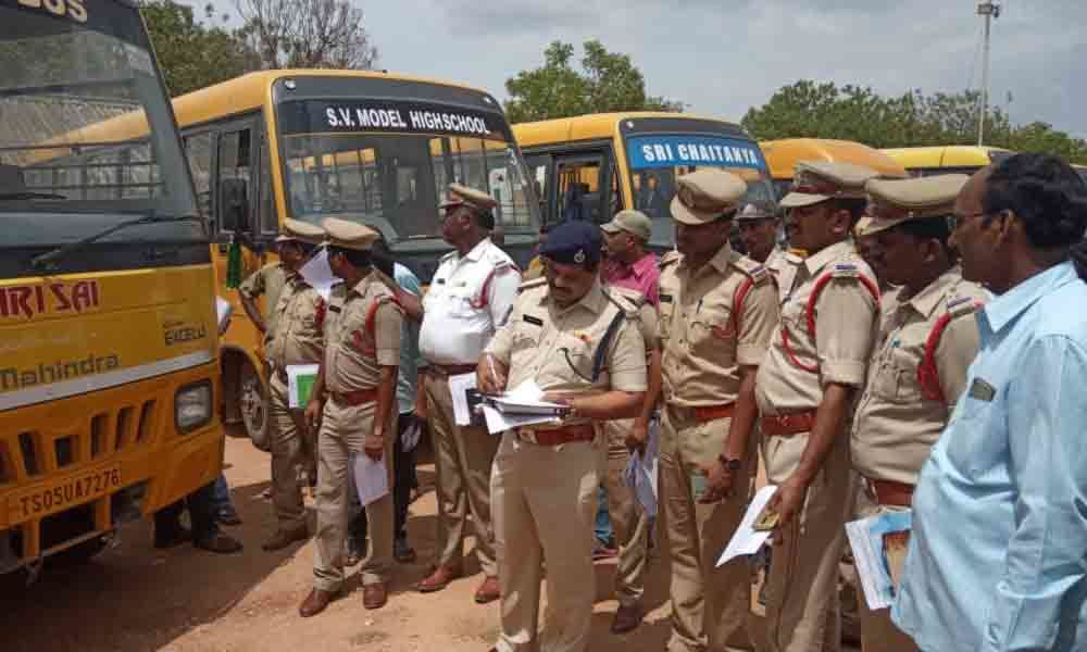School buses told to comply with Motor Vehicle Act rules in Miryalaguda