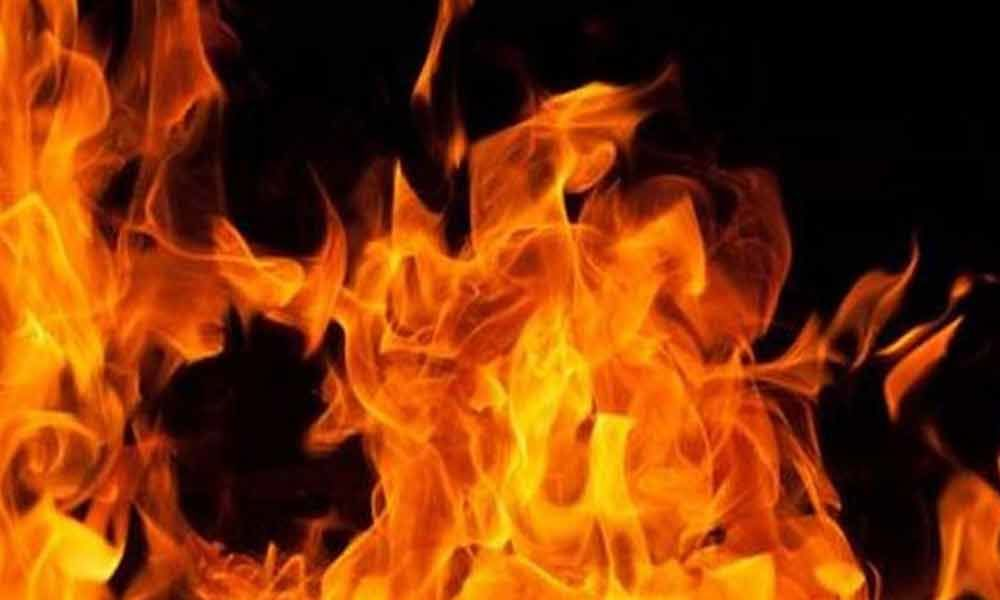 A minor fire broke out in Visakhapatnam