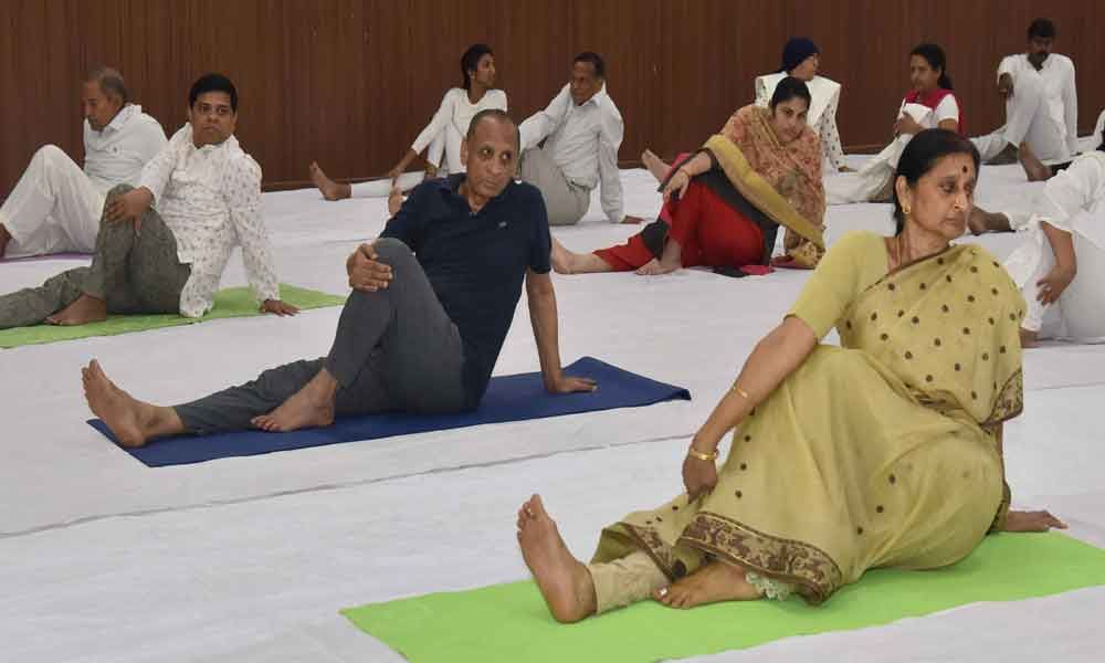 Yoga will be introduced in schools, colleges: Governor ESL Narasimhan