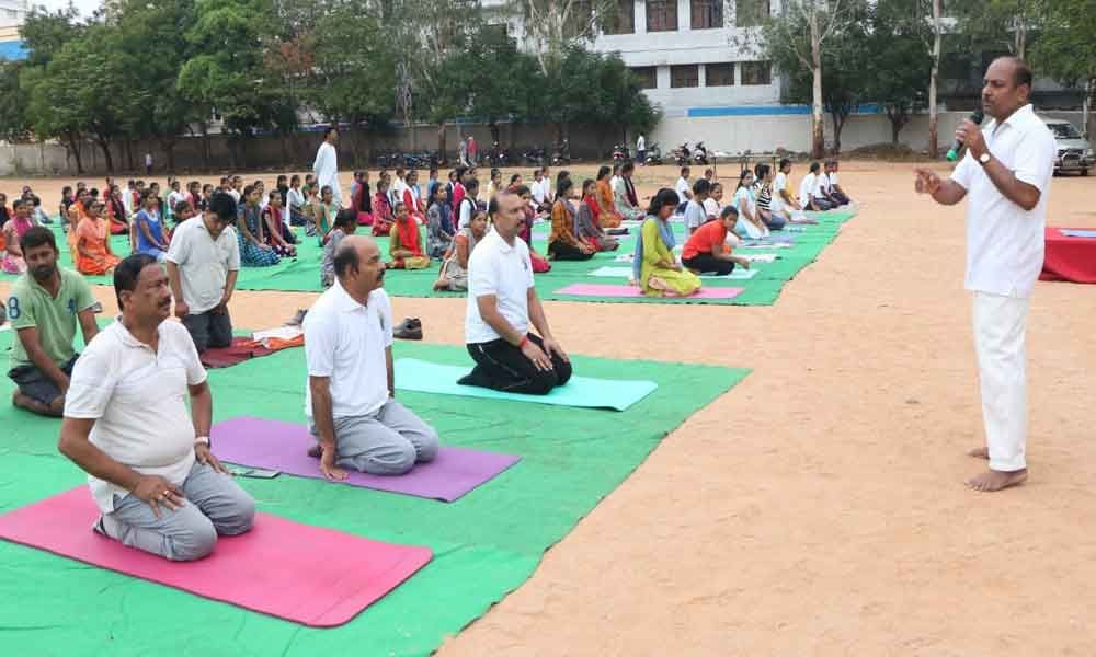 Yoga Day at Govt Polytechnic College