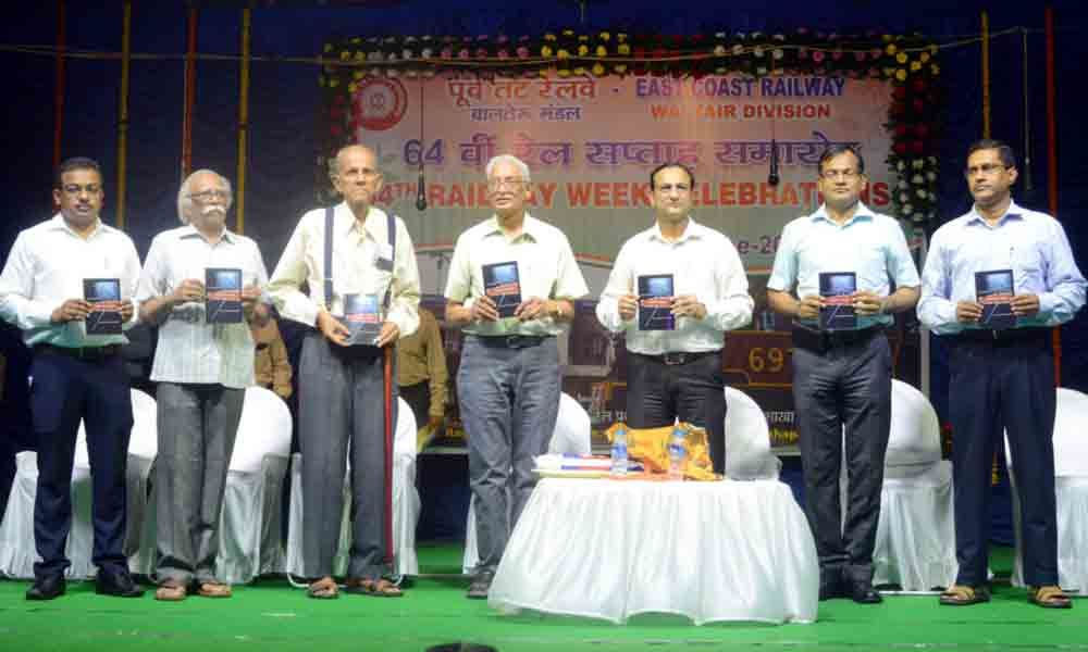 Book released on 64th Railway Week celebrations in Visakhapatnam