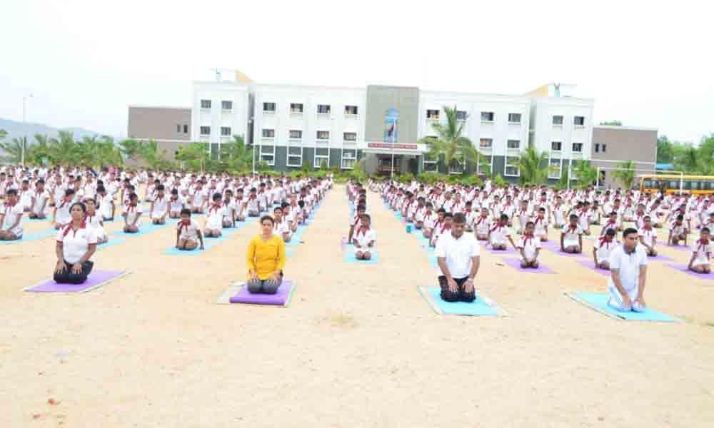 Sainik School Kalikiri celebrates 5th International Yoga Day