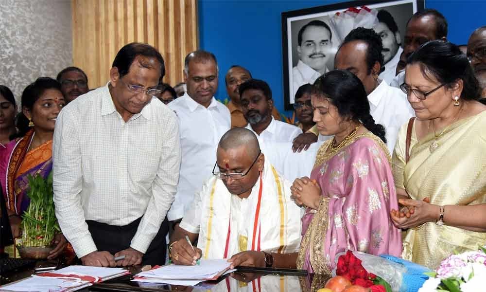 Priests will be provided house sites: Velampalli