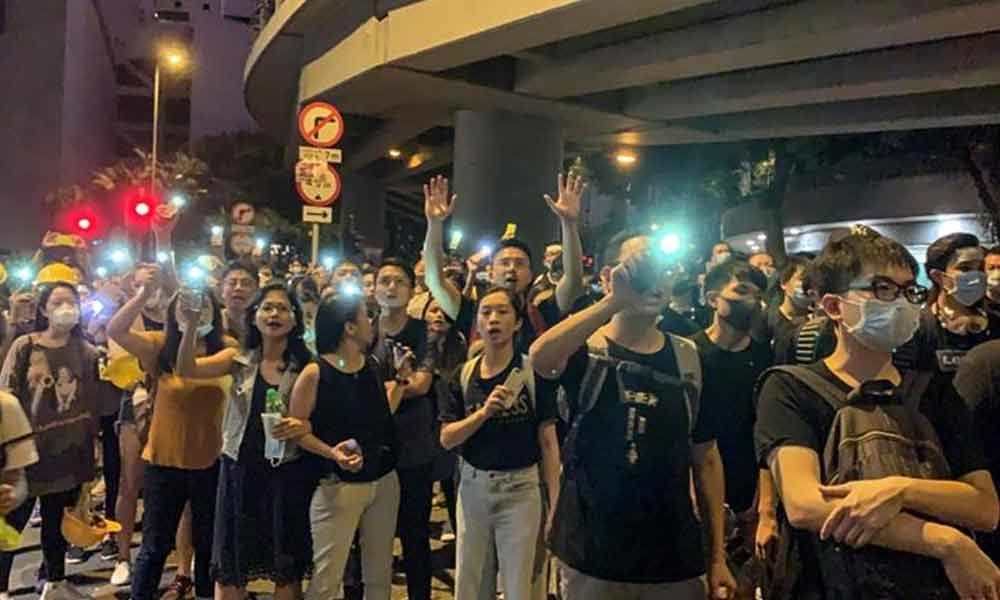 Protestors end 15-hour long siege of police headquarters in Hong Kong
