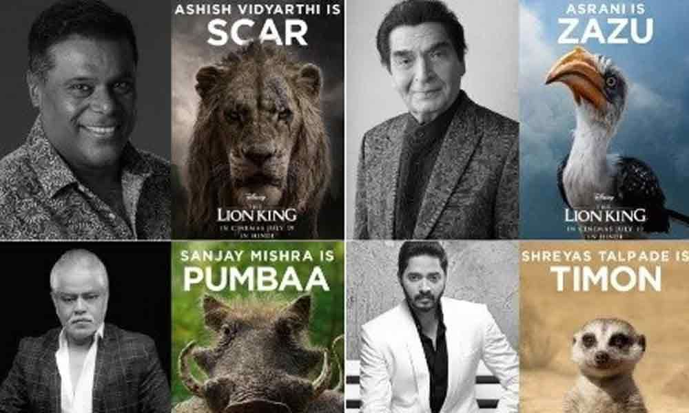 Ashish Vidyarthi, Asrani, Sanjay Mishra And Shreyas Talpade Dubs For The Lion King
