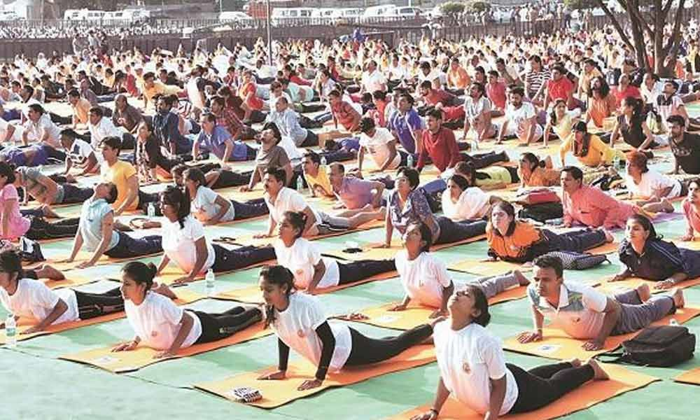 Celebrate national festivals too like Yoga Day